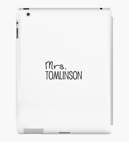 Mrs. Tomlinson iPad Case/Skin