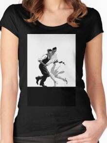 Clay and Lisette Dancing Women's Fitted Scoop T-Shirt