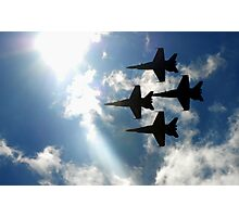 Blue Angels into the Sun Photographic Print