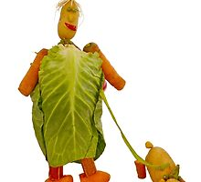 The Veggies, Clarisa Cabbage and Spud the dog by Yampimon