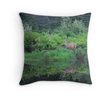 Mule Deer by Payette River Throw Pillow