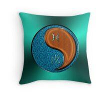 Pisces & Dog Yang Wood Throw Pillow