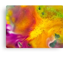 watercolor abstraction painting - orange energy Canvas Print