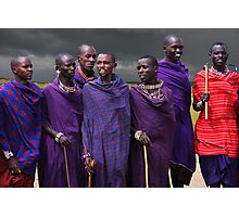 MASAI MEN - KENYA Photographic Print