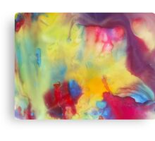 watercolor abstraction painting - colored 1 Canvas Print
