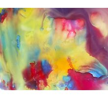 watercolor abstraction painting - colored 1 Photographic Print