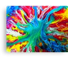 watercolor abstraction painting - blue island Canvas Print