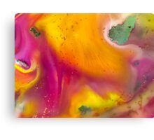 watercolor abstraction painting -  pink and orange Canvas Print