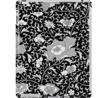 Modern abstract black and white floral pattern iPad Case/Skin
