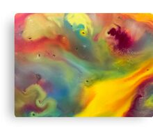 watercolor abstraction painting - colored 2 Canvas Print