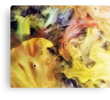 watercolor abstraction painting - sea food Canvas Print