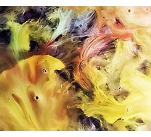 watercolor abstraction painting - sea food Photographic Print