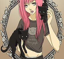 Cats are Better Than People by Bianca Loran