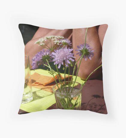 Summer - enjoy outdoor meals Throw Pillow