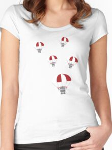 Parachuting Robots Women's Fitted Scoop T-Shirt