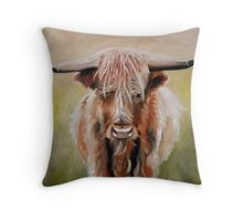 Hamish the Highland Cow Throw Pillow