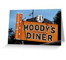 Moody's Diner, ME Greeting Card