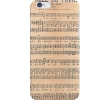 Vintage french classical music sheet paper  iPhone Case/Skin