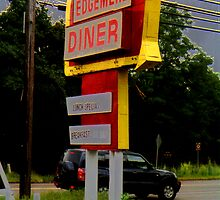 Edgemere Diner Sign by gailrush