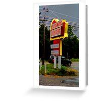 Edgemere Diner Sign Greeting Card