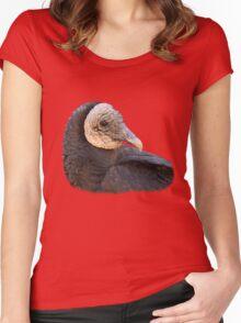 Black Vulture Portrait Women's Fitted Scoop T-Shirt