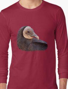Black Vulture Portrait Long Sleeve T-Shirt