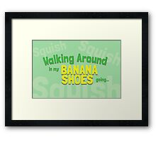 Game Grumps Banana Shoes Framed Print