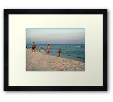 Last Sunrays Shines Upon The Sand Before The Night Falls Framed Print