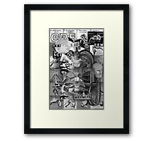 Futurist Family Having a Conversation about Religion. Framed Print