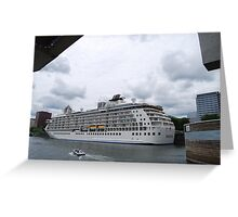 """The World"" -  cruise ship Greeting Card"