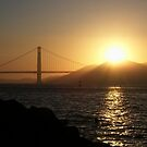 Golden Gate Sunset by Tamara Mason