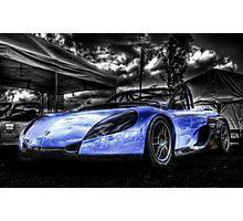 Blue Spider Photographic Print