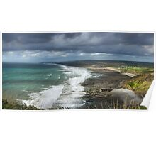 Panorama of Widemouth Bay Poster