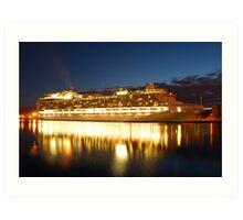 crown princess cruise liner Art Print