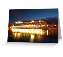crown princess cruise liner Greeting Card