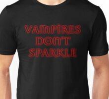 VAMPIRES DON'T SPARKLE (black) Unisex T-Shirt