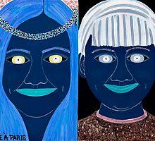 BLUE SIBLINGS by JaneAParis