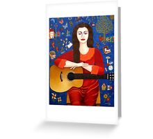 "Violeta Parra  and the song ""Thanks to Life "" Greeting Card"