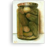 Dill Pickles - still life painting Canvas Print