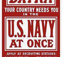 Your Country Needs You In The US Navy by warishellstore