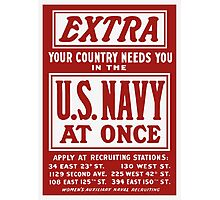 Your Country Needs You In The US Navy Photographic Print