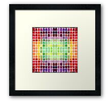 Watercolor Mixing Chart Framed Print