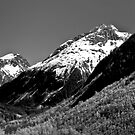 B&W Mountain Range by HouseofSixCats