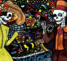 Dia De Los Muertos Skeleton Couple by BetteB