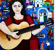 "Violeta Parra  and the song ""Black wedding"" by Madalena Lobao-Tello"
