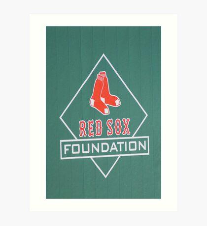 Let's Go Red Sox Art Print