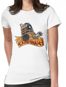 Tattoo Style Dalek Womens Fitted T-Shirt