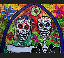 Dia De Los Muertos Skeleton Bride & Groom by BetteB