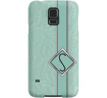 1920s Blue Deco Swing with Monogram letter S Samsung Galaxy Case/Skin