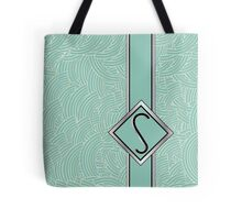 1920s Blue Deco Swing with Monogram letter S Tote Bag